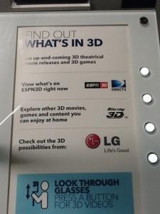 Best Buy 3D Interactive Sign
