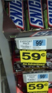 Rite-Aid Wellness Discount for Snickers