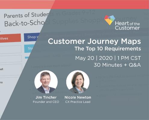 Customer Journey Maps: the Top Ten Requirements