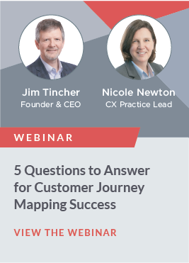 Successful journey maps drive customer-focused change by identifying new ways to delight customers, reduce costs to serve, and increase revenue. Yet more than two-thirds fail to achieve those goals. Why? Because they generate ideas, but don't lead to action. Don't let your project meet that fate!  We created our Five Question Framework to ensure successful results. It begins by making sure you build on a strong foundation. (We require each of our clients to work through these questions before launching their initiatives!) Learn about each of these critical questions and how they impact the outcome to fortify your efforts to drive ROI.